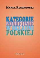 Okładka, Kategorie pośrednie w składni polskiej, Marek Ruszkowski