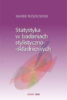 Okładka, Statystyka w badaniach stylistyczno-składniowych, Marek Ruszkowski