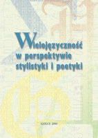 Okładka, Wielojęzyczność w perspektywie stylistyki i poetyki, Marek Ruszkowski red.