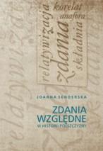 Okładka, Zdania względne w historii polszczyzny, Joanna Senderska