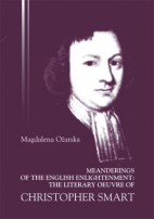 Okładka, Meanderings of the English Enlightenment: The Literary Oeuvre, Magdalena Ożarska