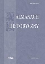 """Okładka, """"Almanach Historyczny"""", t. 20, Ryszard Gryz, Dominika Burdzy red."""
