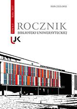Okładka, Rocznik Biblioteki Uniwersyteckiej, t. 4-5, Jolanta Drążyk, Henryk Suchojad red.