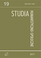 Okładka, Studia Humanistyczno-Społeczne t. 19, red. Wojciech Saletra, Radosław Kubicki