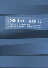 Okładka, Cognitive theories in their application to different languages, Shala Barczewska, Magdalena Z. Feret (eds.),