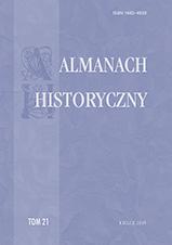 Okładka, Almanach Historyczny, t. 21, red. Jacek Legieć, Sylwia Konarska-Zimnicka