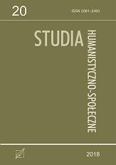 Okładka, Studia Humanistyczno-Społeczne, t. 20, red. Patrycja Jakóbczyk-Adamczyk, Radosław Kubicki
