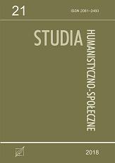 Okładka, Studia Humanistyczno-Społeczne, t. 21, red. Radosław Kubicki