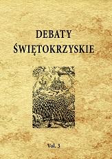 Okładka, Debaty świętokrzyskie Vol. 3/2020, Krzysztof Bracha red.