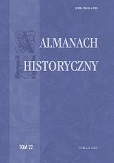 """Okładka, """"Almanach Historyczny"""", t. 22, red. Jacek Legieć"""